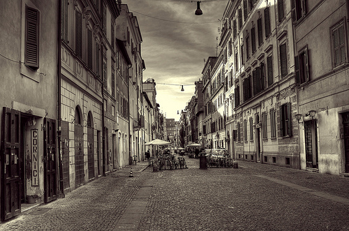 Typical Street of Rome