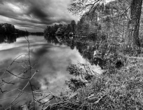 Dadaj Lake in Black & White