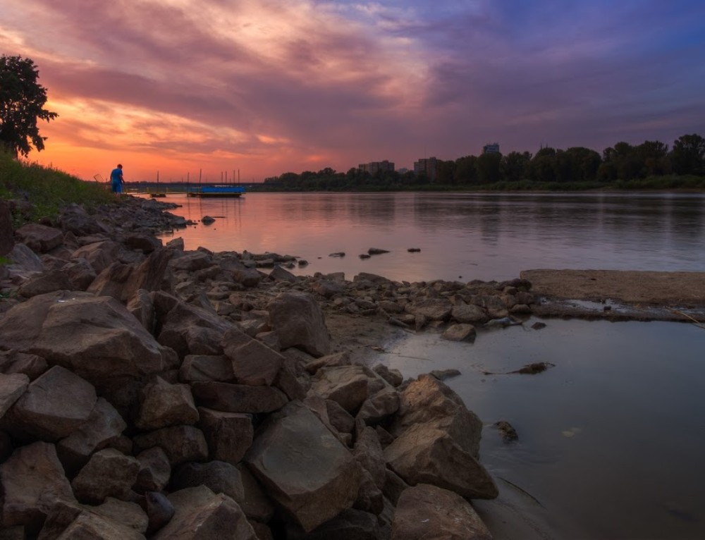 Sunset over the Vistula River