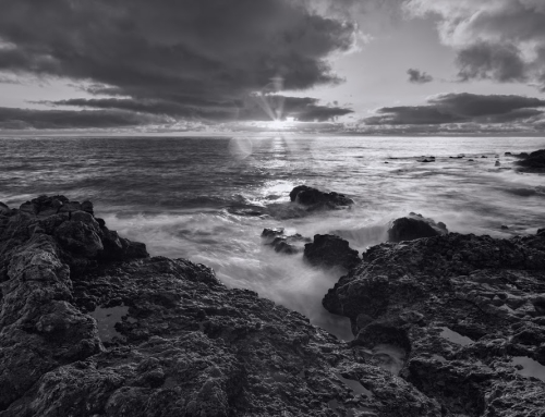 Sunrise in black & white