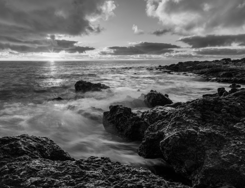 Fuerteventura sunrise in black & white