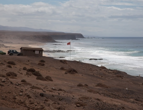 Before/after comparison: El Cotillo