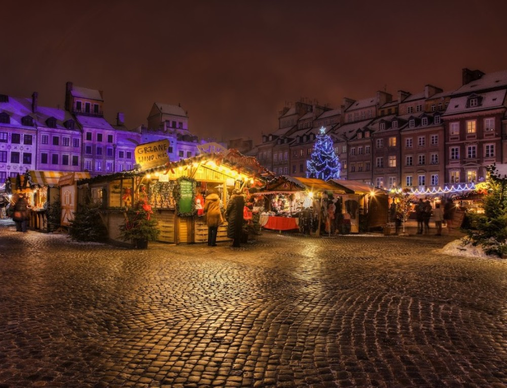 Christmas market in Warsaw