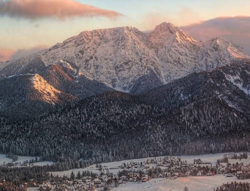 Giewont at sunset