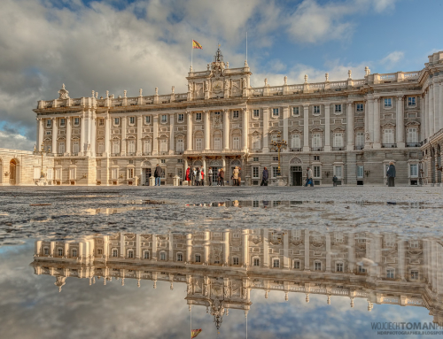 Royal Palace in Madrid in the morning