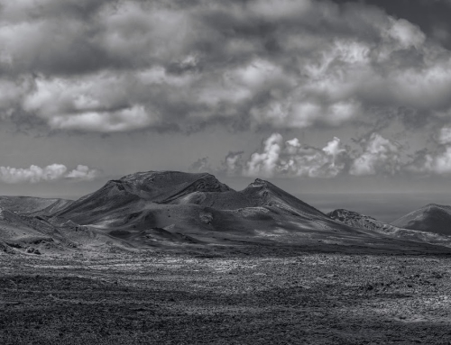 B&W HDR from Timanfaya National Park