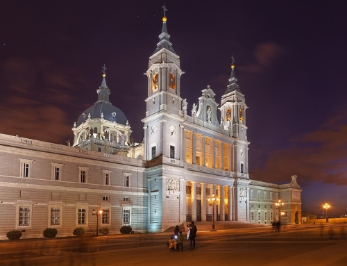 Night HDR photo of the Cathedral in Madrid