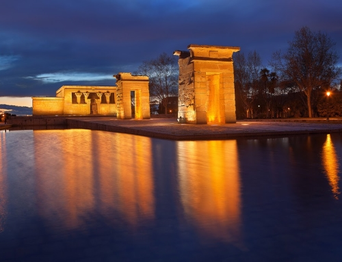 Before/after comparison: Temple of Debod in HDR