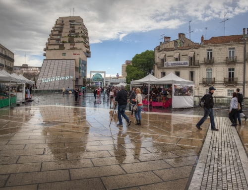 Rain in Montpellier