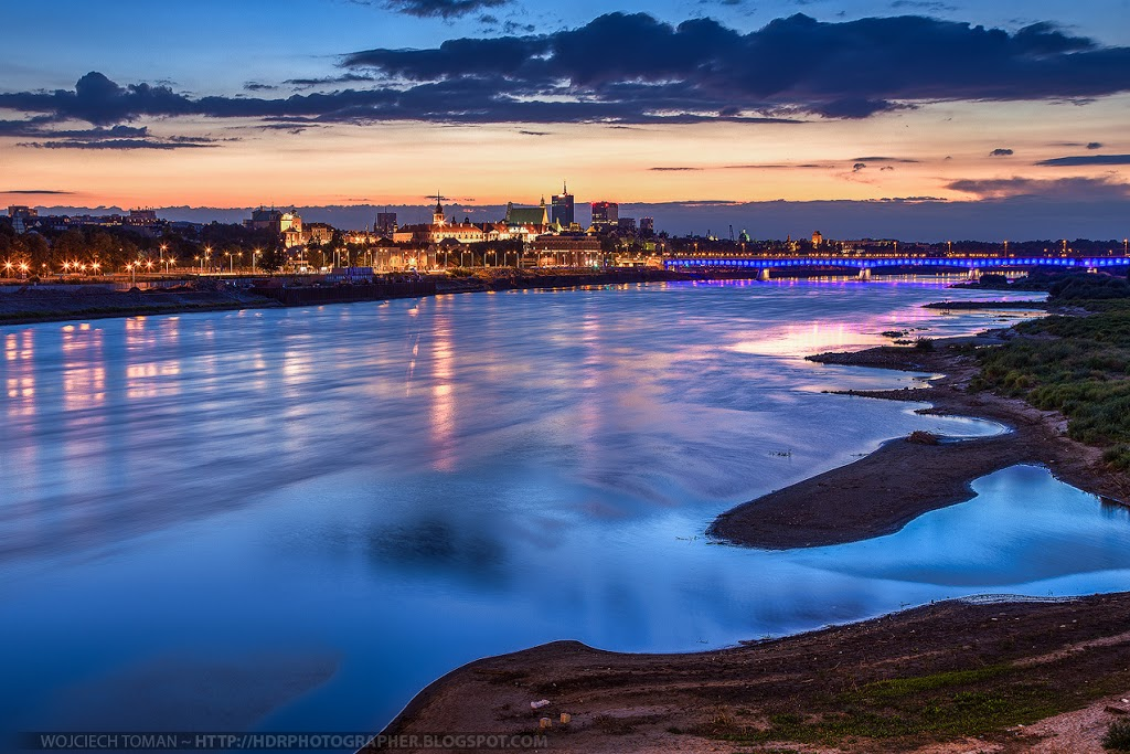 Blue hour in Warsaw