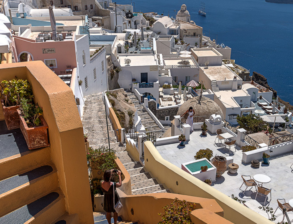 Steps in Thira