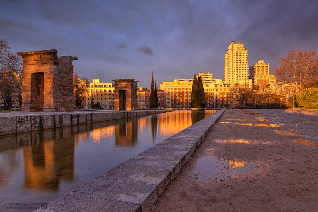 HDR photo of Debod Temple