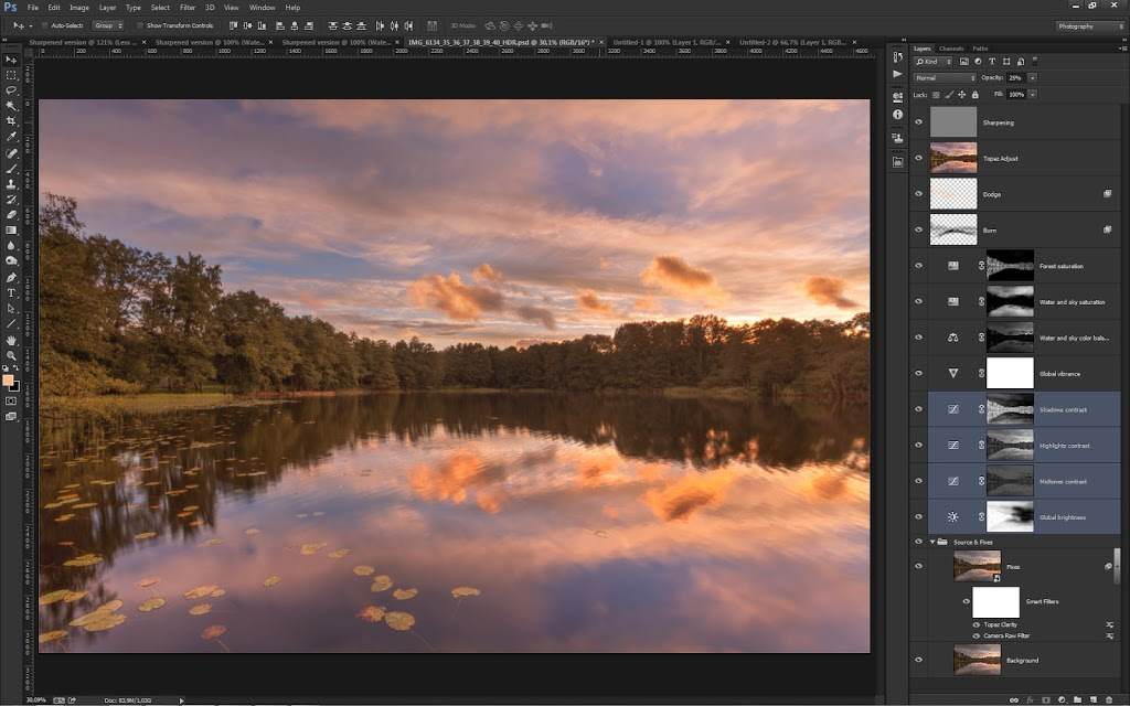 Photoshop layers used to create image