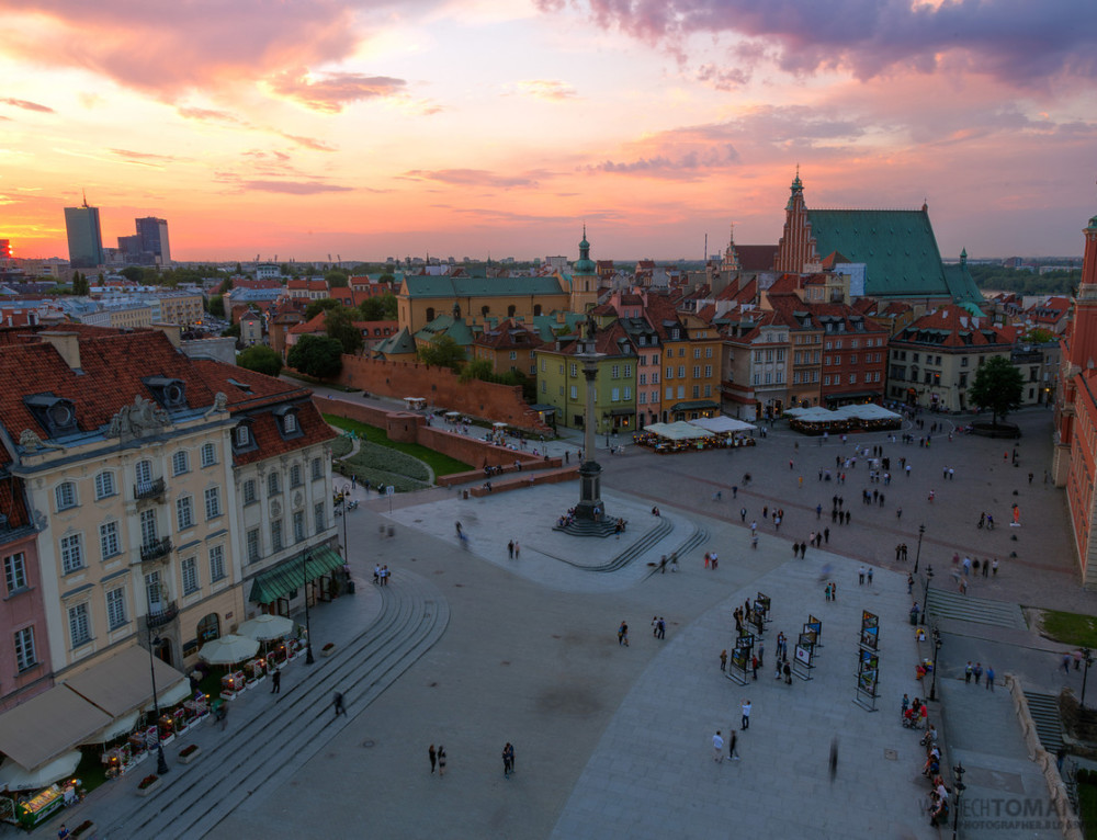 Soft sunset in Warsaw