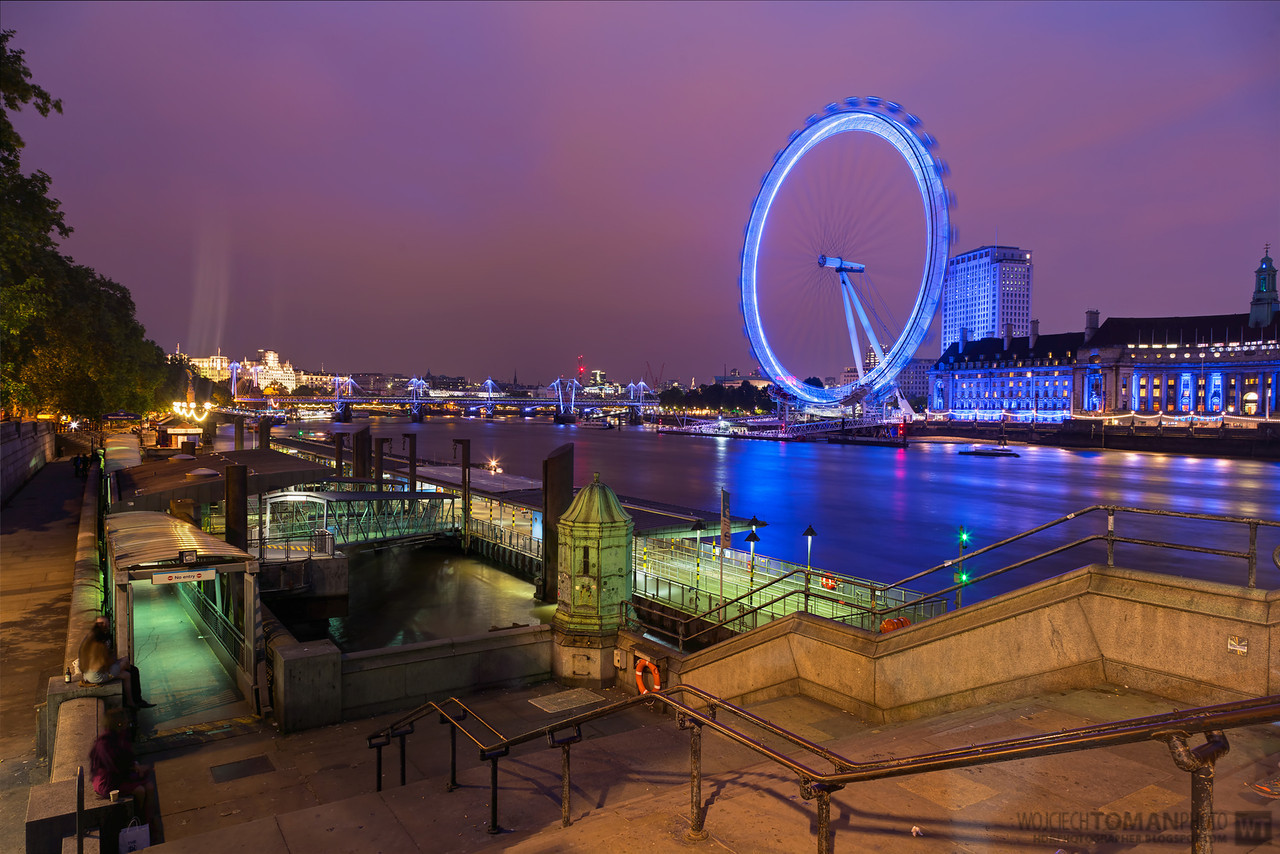London Eye in the evening