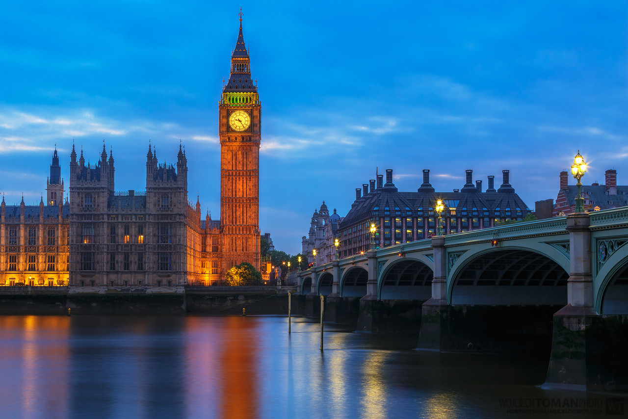 Big Ben during blue hour