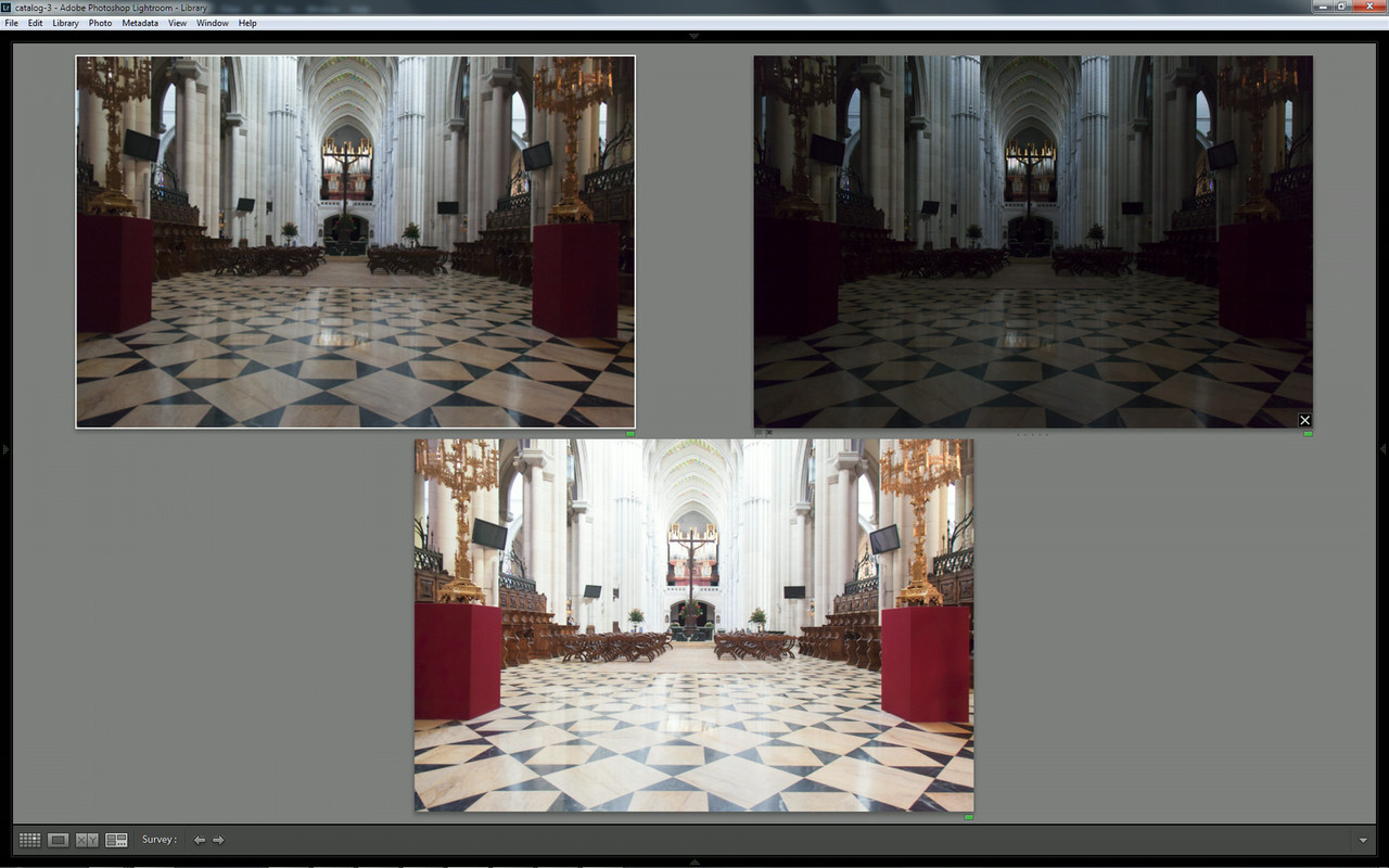 Bracketed photos in Lightroom