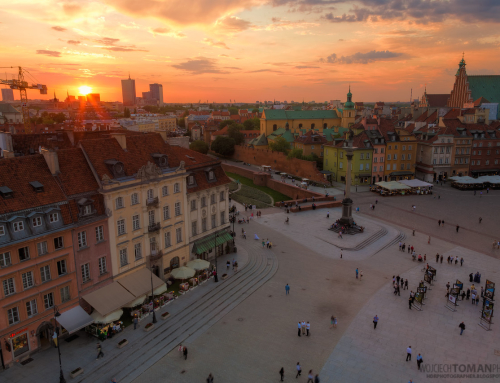 Sunset in Warsaw