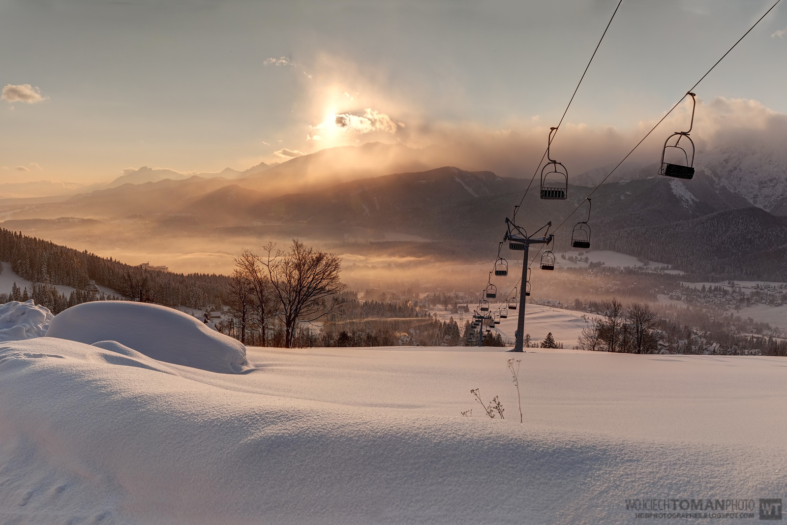 High Dynamic Range Photo of sunrise in Tatra Mountains.