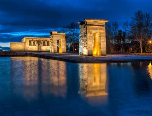 Debod Temple in the Evening