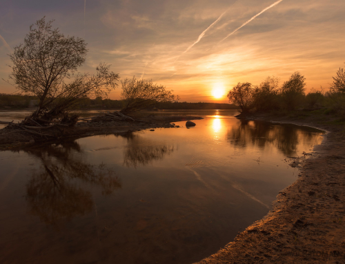 Sunset by Vistula River