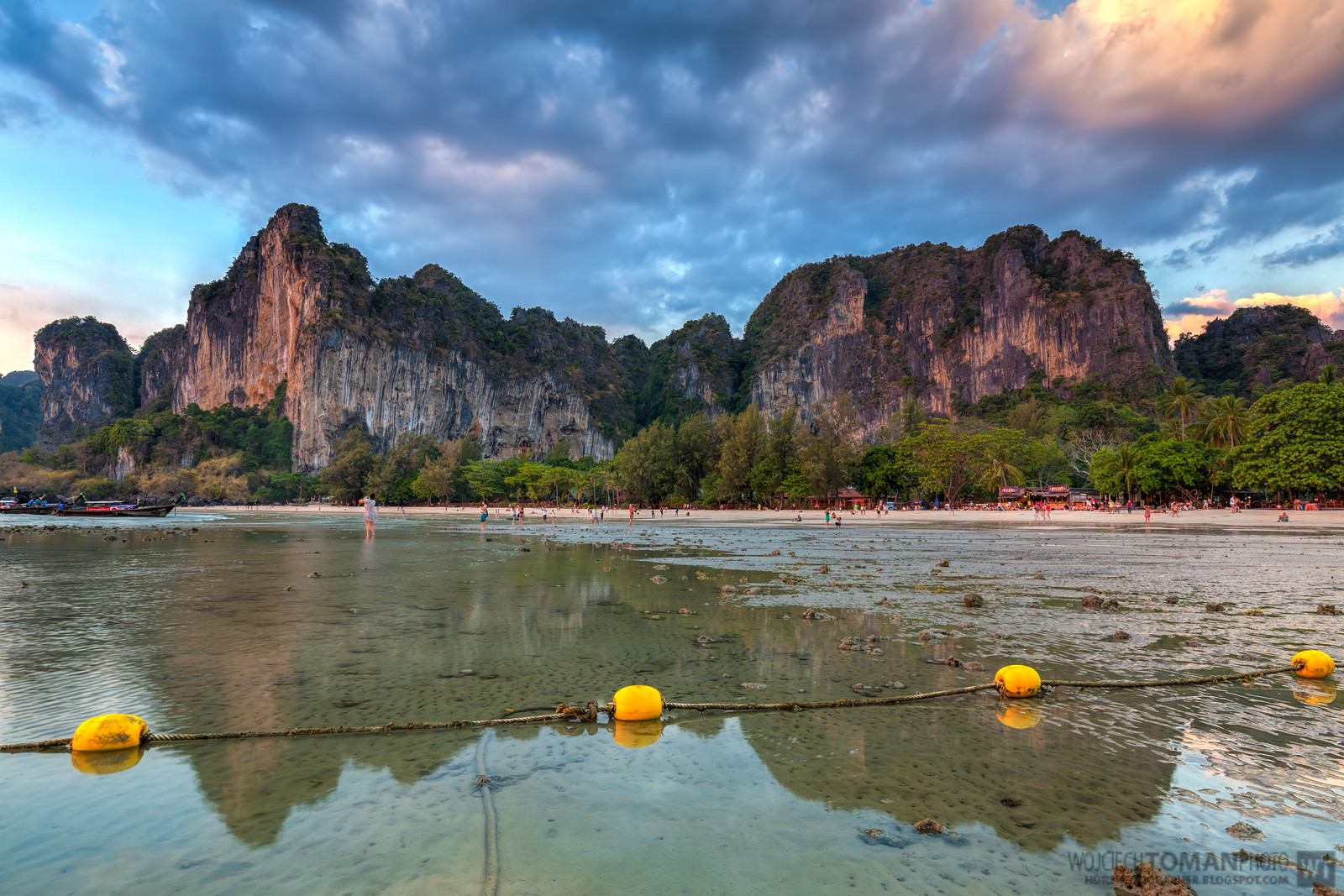 Railay Beach at Sunset