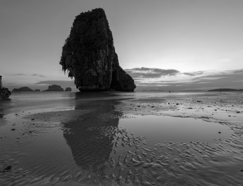 Phra Nang Beach in B&W