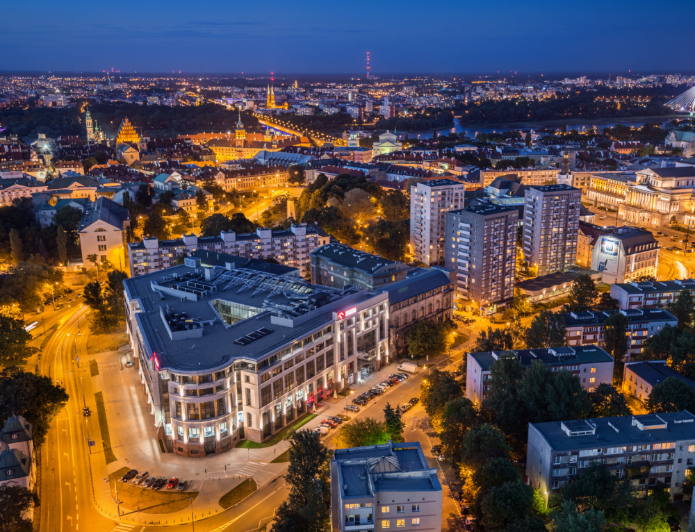 Evening in Warsaw