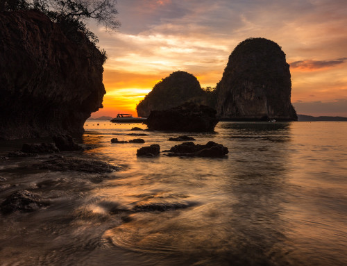 Sunset on Phra Nang Beach