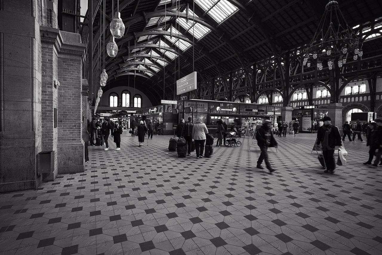 Railway station in Copenhagen