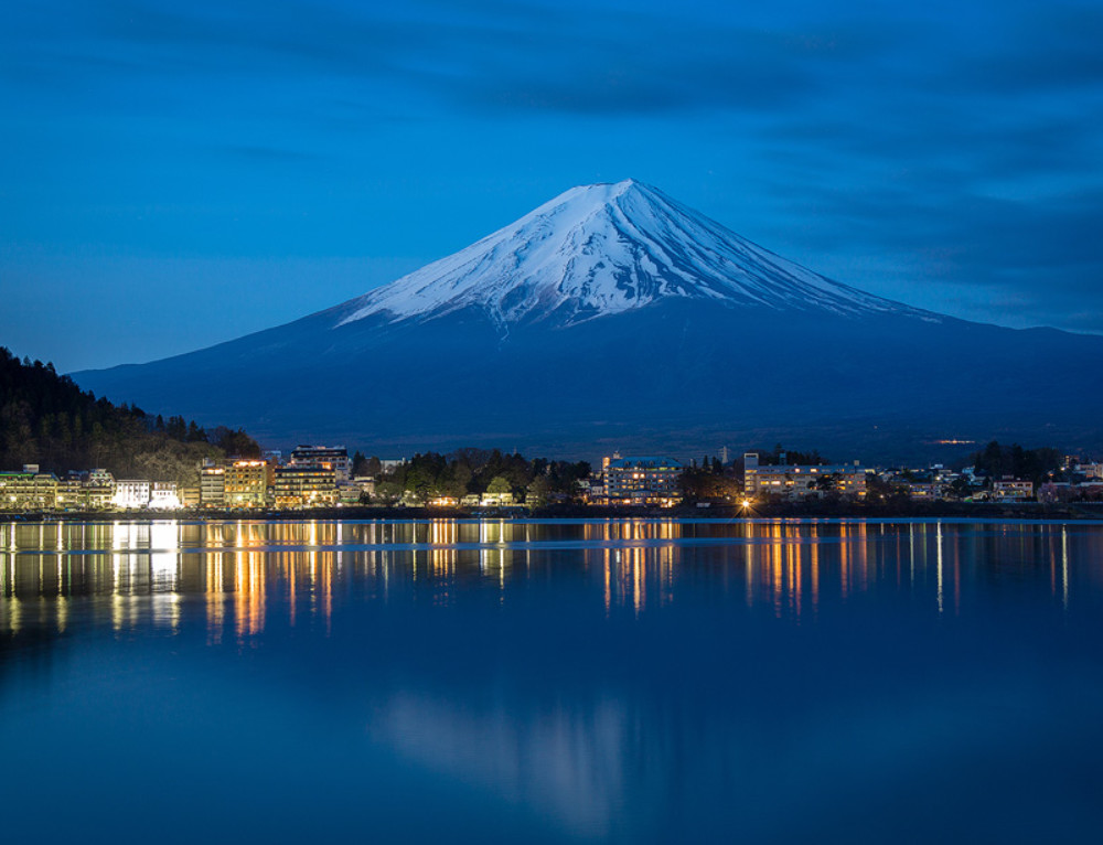 Mount Fuji before Sunrise