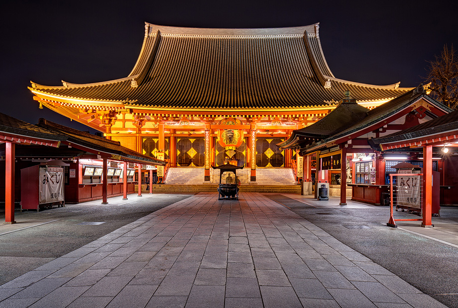 Photo of Senso-ji temple edited using my ON1 Effects Presets
