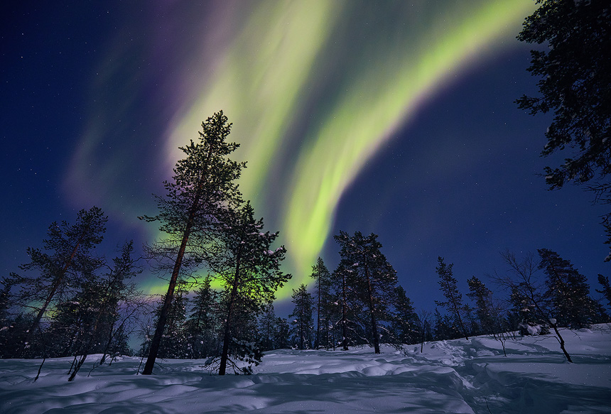 Northern Lights display in Finland