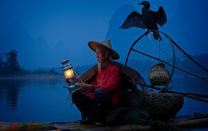 Cormorant Fisherman by the Li River